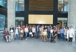 EOXI Vigo do 20 de xuño. Foto de grupo da reunión coas asociacións de pacientes.